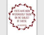 Funny Quote Art Print, typographic, GK Chesterton