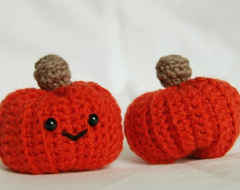 Crochet Amigurumi Pumpkin Halloween / Autumn / Fall Decor