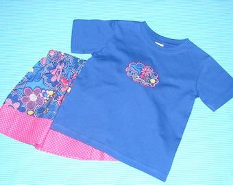 Skirt and T-shirt Set Toddler 2T, Little Girls Tee Shirt and Skirt Set, Girls Clothing, Girls Clothes, Girls Outfit