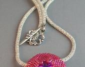 Rivoli Rose Pendant and Necklace