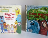 Vintage - SESAME STREET - Little Golden Books - Set of 2