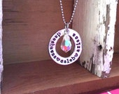 SALE-NEW-All My Loves...Hand Stamped Pewter Washer Necklace