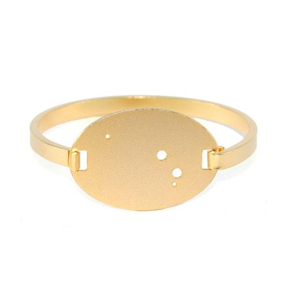 Aries Gold Flash Constellation Hinged Bracelet