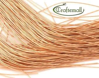 """BeadSmith French Wire - Fine 0.7mm - New Gold (looks like 24K gold) - 14"""""""