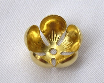 10pcs Flower Bead Cap Brass Beadcap Fit Beads in Different Sizes DIY Crafts ca017