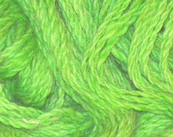 Alpaca Yarn, Lime Green, Hand Spun and Dyed from American Alpacas