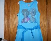 Elsa and Ana in Rhinestones Dress