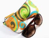 Retro Swirl Eyeglass Case, Sunglasses Pouch, Sunglasses Case, Zippered Eye Pouch