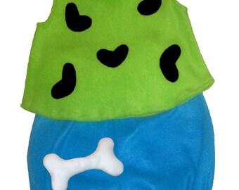 Ready To Ship 5/6 Flintstones Pebbles Halloween Costume Set Boutique PAGEANT Lime Turquoise