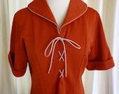 Vintage Angelica Waitress Uniform Diner Restaurant size 38