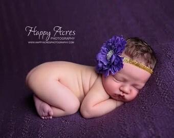 Purple Headband, newborn headband, baby headband, photography prop