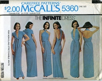 McCall's 5360 - The Infinite Dress Sewing Pattern - One Size Fits All - Uncut
