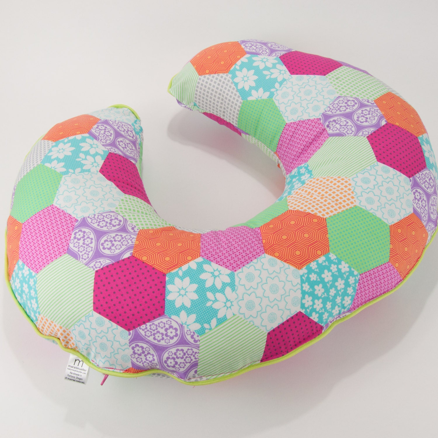 Cute Boppy Pillows : Boppy Cover in Michael Miller s Cute Patchwork Fabric