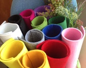 5mm Thick Polyester Felt Fabric Sheet - 91 x 45cm (1/2 yard) - 12 colors for choice