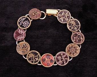 1800s Perfume Button Bracelet