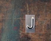 vintage industrial letter J / metal letters / letter art