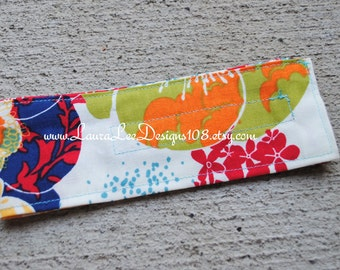 READY TO SHIP, Floral Diaper Strap, Diaper Holder, Diaper Bag Organizer, Diaper Keeper, Nappy Strap, Baby Shower Gift, Flower Diaper Strap