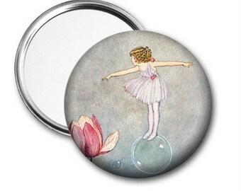 Pocket Mirror - Fairy on Bubble
