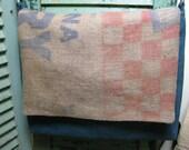 2 Vintage Feed Sacks Laptop Bag Upcycled Purina Dairy Feed Sack Large Handmade Messenger Bag