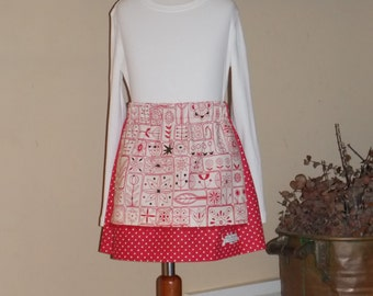 Buy Any 2 Skirts and Get 1 FREE, Look at my Artwork Apron Skirt, Size 2, 3, 4, 5, 6, 7, 8, 9, 10, and 12