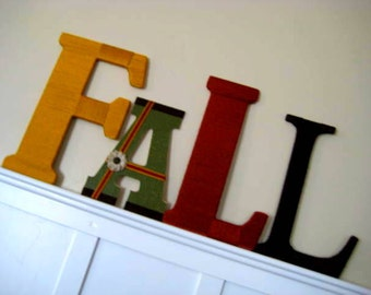 SALE FaLL Yarn Wrapped Letters Home Decor