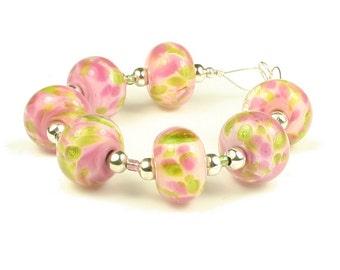 Hydrangea - Handmade Lampwork Glass Beads