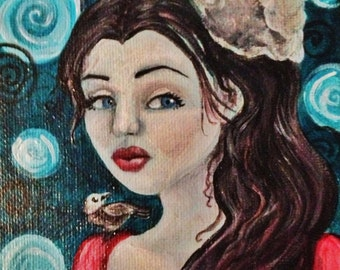 Miss Starling Original Surreal/Lowbrow Painting