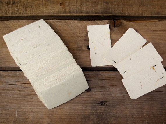 Handmade recycled paper business cards