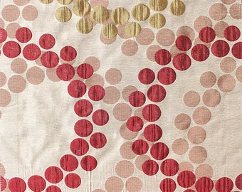 Custom Curtains with Burgundy / Gold Geometric Pattern One