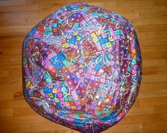 Knots  Bean Bag Chair Cover - Diamonds, Rope, Squares, Purple, Blue, Teal, Maroon, Yellow, Pink, Red, Lavender, Gift Under 75, Etsy Kids