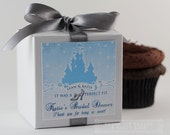 THE RIGHT SHOE - One Dozen (12) Cupcake Mix Bridal Shower Favors...Glass Slipper, Cinderella, Fairytale Wedding