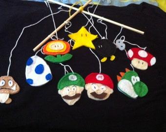 Mario Crib Mobile or Nerd Decoration