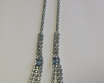Light Blue Rhinestone Necklace