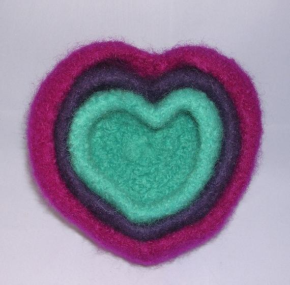 "50 % -"" MAYSALE""  code,Felted Nesting Bowls Heart Shape, Valentine's Day, Rustic Farmhouse Decor"
