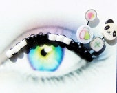 Panda Sushi Eyelash Jewelry - false eyelashes with panda bears and sushi rolls