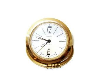 Vintage Soviet Russian Mechanical SLAVA Alarm Clock -  Retro USSR 1960s