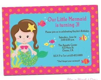 PRINTABLE Mermaid Invitation #552