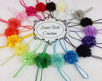 You pick 8 Mini Satin Mesh Flower Headbands, Baby Headband, Toddler Headband, Children's Headband Set