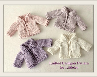 Instant Download PDF Knitted Cardigan Pattern for Littlefee