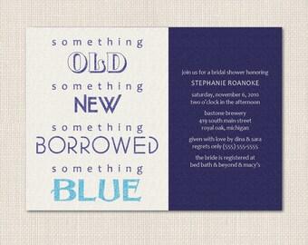 Something Borrowed Bridal Shower Invite - DEPOSIT