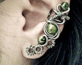 Evil Eye Ear Cuff - Macabre and Cyberpunk inspired cartilage cuff