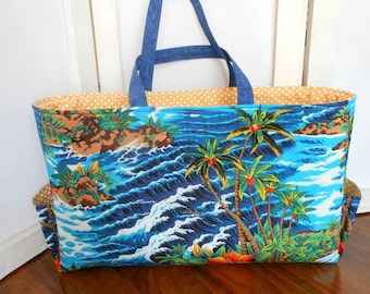 Beach Bag Tropical Handcrafted Tote