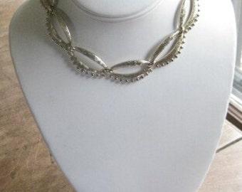 Sale Vintage Monet Chunky Gold Tone Link Necklace Choker