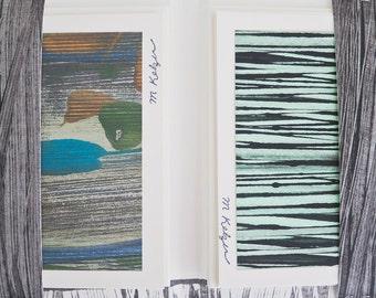 8 Notecards - Paste Paper Originals