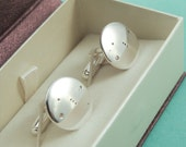 Silver Orion Cuff links: Sterling silver cuff links showing the constellation of Orion.