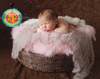 Soft Baby Blanket Photography Prop (choose color) Children