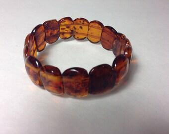 Cognac Baltic Amber Bracelet