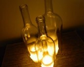 Triple Wine Bottle Candle Holder Centerpiece Hurricane Lamp