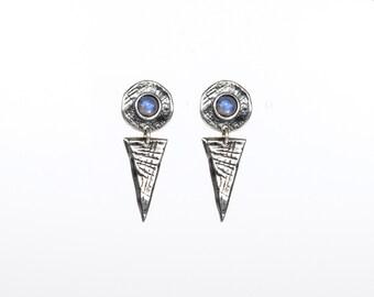 PRIMORDIA Dangle Stud Earrings