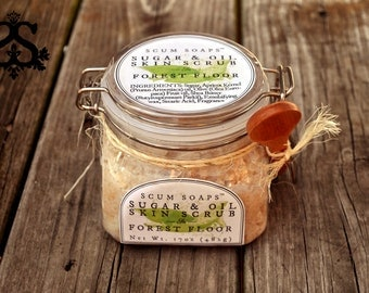 Forest Floor Sugar & Oil Skin Treatment - Natural, Vegan, Sugar Scrub, Outdoors, Lichen